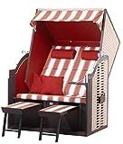 Strandkorb Sylt PE Natur - Dessin 426 Strandkörbe fertig aufgebaut