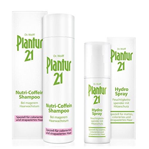 Plantur 21 Nutri-Coffein-Shampoo, 250 ml & Hydro-Spray, 100 ml - Schutz vor vorzeitigem Haarausfall, Feuchtigkeits-Spray incl. Hitzeschutzfaktor