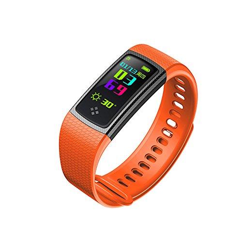 Lemumu S9 Smart Armband Pulsmesser Fitness Tracker Farbdisplay Blutdruck die Sauerstoffsättigung im Blut messen für iOS Android, - Blutdruck Dock