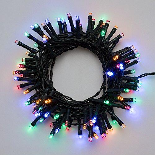 Catena a batteria 9,55 m, 240 led multicolor, con giochi di luce, timer 6/18, luci di Natale, luci colorate per l'albero di Natale, luci natalizie a batteria