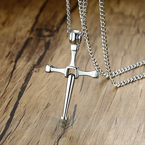 Halsketten für Herren Men Baseball Bat Cross Pendant Halskette Edelstahl Toretto Letty Es Design Crucifixion Man Disco Ball Softball Player Jewels