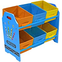 Preisvergleich für Bebe Style Spielzeug-Kommode in Kindergröße, mit 6 Aufbewahrungsboxen