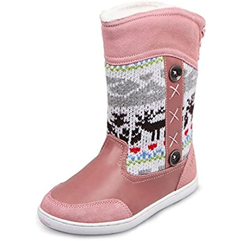UOVO Winter Snow Boot Renna Posteriore Lace-Up