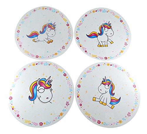 Set de Table 4 pcs. Licorne mignon Unicorne ronde plastique