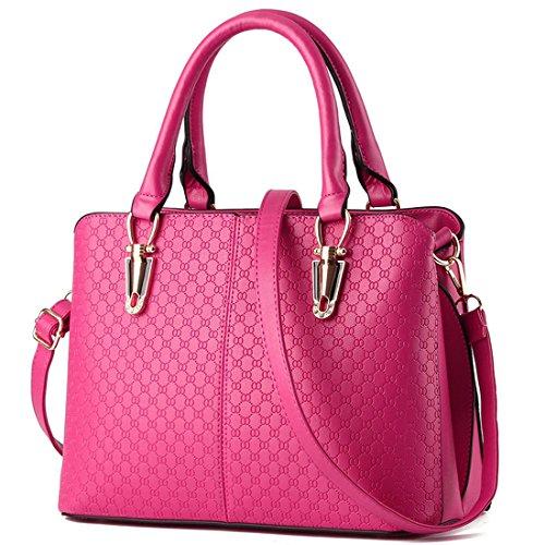 Mailo Damen Leder borsa a tracolla delle borse delle signore classiche messenger bag Large Tote Rosa