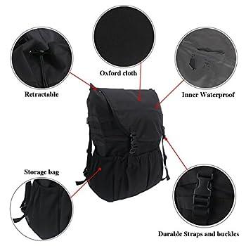 Travel Holder Bag, Hohe Kapazität Rucksack Cargo Satteltasche Reserverad Aufbewahrungstasche Für Wrangler Jk Yj Tj Suv 3