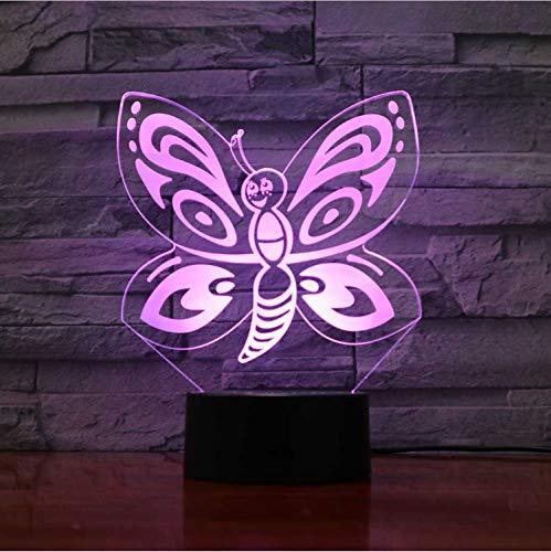 Nachtlicht Led 7 Farben Ändern Touch Schmetterling Modellierung Nachtlicht Usb Cartoon Insekten Tischlampe Wohnkultur Beleuchtung Für Kind Geschenke 2135 Usb