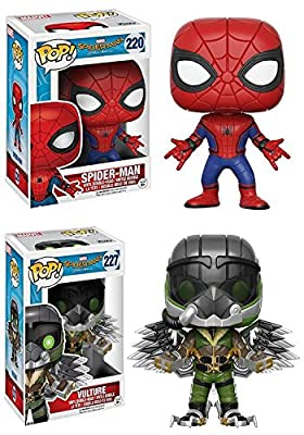 Funko POP! Spider-Man Homecoming: Spider-Man + The Vulture - Marvel Vinyl Bobble-Head Figure Set NEW