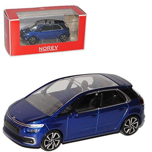 Citroen C4 Picasso Blau 2. Generation Ab 2013 1/64 Norev Modell - Modell Citroen