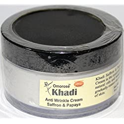 Khadi Anti Wrinkle Cream With Skin Tightining Effect ( Saffron, Almond and Papaya ) , 50g