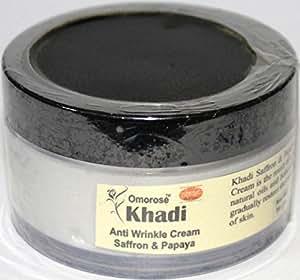 Khadi Omorose Anti Wrinkle Cream With Skin Tightining Effect (Almond, Saffron & Papaya) - 50G