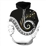 Unisex Paare Piano Hooded Sweatshirt 3D gedruckt Quick Dry Sweat Shirt Langarm Hoodie Taschen Top WY-215