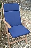 Klassiche Garten Liegesessel Sitzkissen - Kissen Nur - Blau