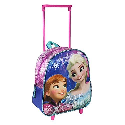 Preisvergleich Produktbild Disney Die Eiskönigin 2100-1180 Kinder Rucksack, Schulrucksack, 2 Räder, Polyester, 28 Centimeters, Mehrfarbig, Frozen, Anna, Elsa