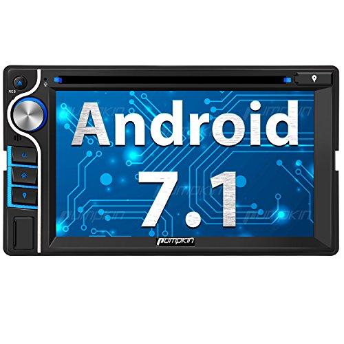 Pumpkin Android 7.1 Autoradio Naviceiver mit Navi Unterstützt Bluetooth DAB + WLAN Android Auto USB CD DVD MicroSD 2 Din Universal 6,2 Zoll Bildschirm