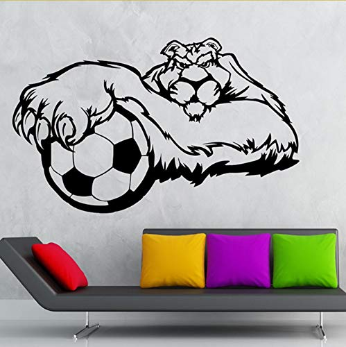 Ljtao Wandaufkleber Vinyl Aufkleber Sport Fußball Tier Tiger Maskottchen