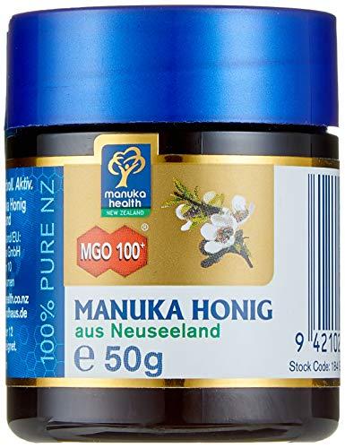 Manuka-honig (Manuka Health - Manuka Honig MGO 100 + (50g) - 100% Pur aus Neuseeland mit zertifiziertem Methylglyoxal Gehalt)