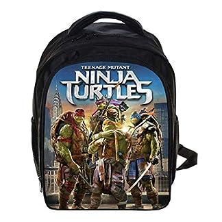 Mochila para la Escuela Ligero Tortugas Ninjas Mutantes Adolescentes Mochila para niños Elemental Mochilas para Chicos 12.99 * 5.7 * 9.44 Pulgadas,G