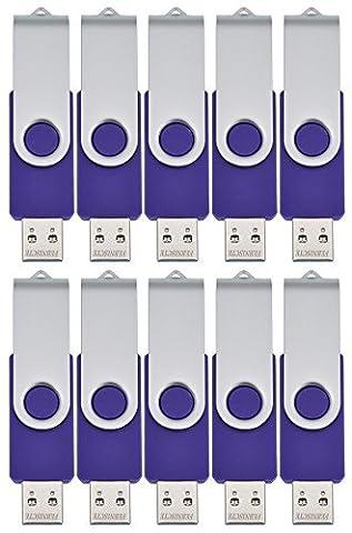 FEBNISCTE Lot de 10 Clé USB 2.0 pour PC 512MB(Not