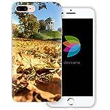 dessana München Sightseeing transparente Silikon TPU Schutzhülle 0,7mm dünne Handy Tasche Soft Case für Apple iPhone 8 Plus Englischer Garten