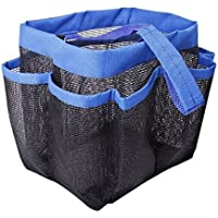 Liheyin Spacious 8 Mesh Pockets Quickly Dry Hanging Shower Caddy Toiletry Organizer Cosmetics Storage Bags Portable Multifunctional Water Resistance Travel/Dorm/Office Bathroom Washing Bag (Blue) by Liheyin