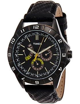 Timex Herren-Armbanduhr XL Retrograde Analog Leder T2N520