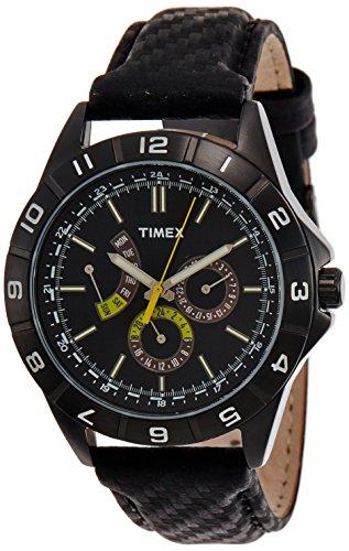 Timex Herren-Armbanduhr XL Retrograde Analog Leder T2N520 (Timex-easy-reader-schwarz-leder)