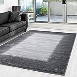 Moderner Designer Glitzer Wohnzimmer Schlafzimmer Teppich Toscana 3160 GRAU - 160x230 cm
