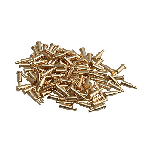 Yibuy Vergoldet Kupfer Pogo-Pins Sonde Spring Loaded Wasserdicht, 0.2 x 0.6cm/0.08 x 0.24 inch(Dia x H) - Spring Pins Loaded