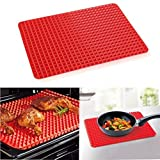 1 Piece Red Pyramid Bakeware Pan Nonstick Silicone Baking Mats Pads Moulds Co... by Valink