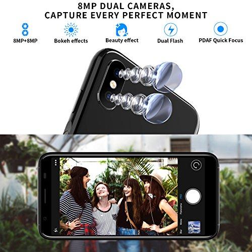 Moviles Libre  DOOGEE X55 Smartphone Libres  3G Android 7 0 Telefonos - 5 5 Pulgadas HD IPS Pantalla - 1GB RAM   16GB ROM - C  mara Dual de 8 0MP   8