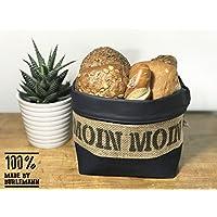 Brotkorb Moin Moin friesisch blau aus Kaffeesack für 5-6 Brötchen