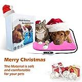 "ZNOKA Pet Heating Pad, Dog Cat Multi-functional Pet Blanket Heating Pad Waterproof Adjustable Warming Mat 18""x18"""