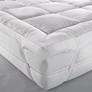 Mattress Topper 150x200cm, 500GSM Soft Dacron Sheet Filling with Microfiber Outer