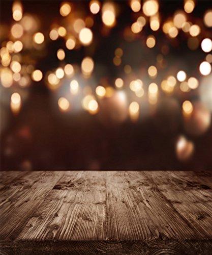 eh Fotografie Hintergrund Schwarz Gold Spot Glitzer Gelb Fotografie Hintergrund Holz Boden Weihnachten Hintergründe für festlichen Event (Benutzerdefinierte Halloween Requisiten)