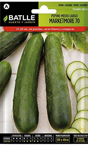 Batlle Gemüsesamen – Halblange Salatgurke Marketmore 70 (210 Samen)