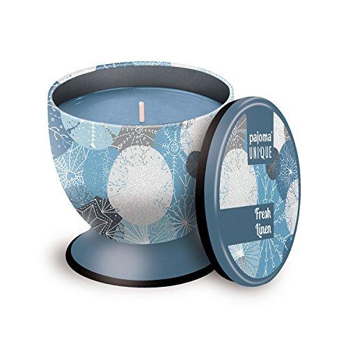 Bettwäsche Soja-kerze (Pajoma Duftkerze UNIQUE ''Fresh Linen'', 240 g, Premium Duftkerze mit hohem Duftanteil, verschließbar, Brenndauer: 40 Stunden)