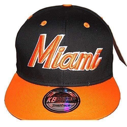 KB Ethos Miami Premium Casquette, Hip Hop Vintage Rétro Visière Plate Baseball Chapeaux