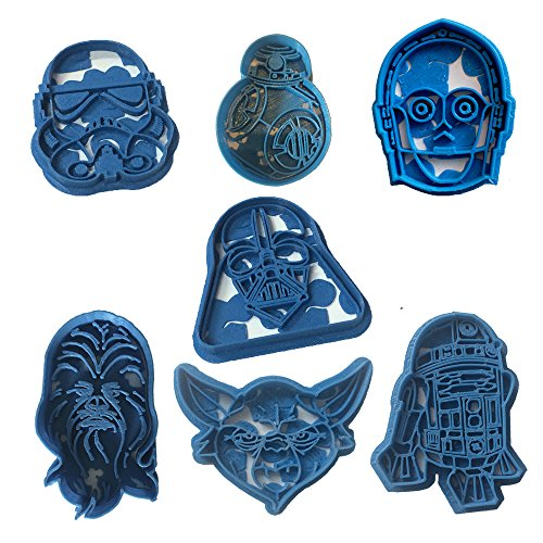 Cuticuter Star Wars Pack Cortador de Galletas, Azul, 16x14x1.5 cm, 7 Unidades