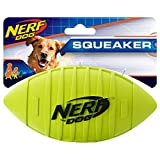 Nerf Dog Squeaker Football, 7-Inch, Yellow
