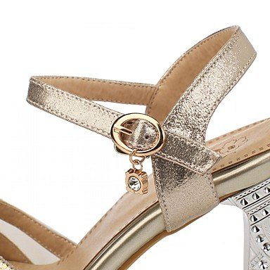 LvYuan Sandali-Matrimonio Ufficio e lavoro Formale Casual Serata e festa-Comoda Innovativo-A stiletto-Sintetico Vernice Finta pelle-Argento Gold