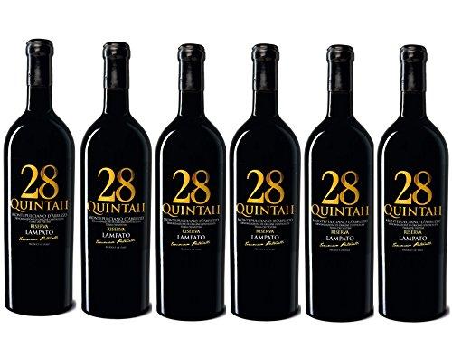 """Vino Rosso Montepulciano d'Abruzzo D.O.C.G. Riserva 2013 - Cantine""""LAMPATO"""" Colline Pescaresi-Abruzzo-Italy - Box da 6 Bottiglie da 0,75 lt."""