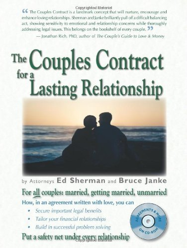 The Couples Contract for a Lasting Relationship by Ed Sherman (2006-01-23)