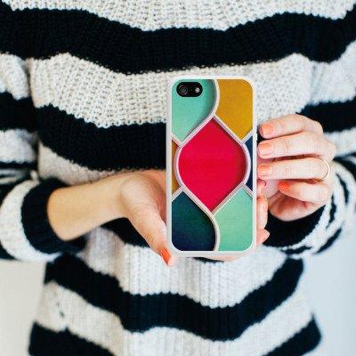 Apple iPhone 5 Housse étui coque protection Couleurs Motif Motif Housse en silicone blanc