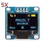Generic 5Pcs 0. 96 Inch Blue Yellow IIC I2C OLED Display Module For Arduino