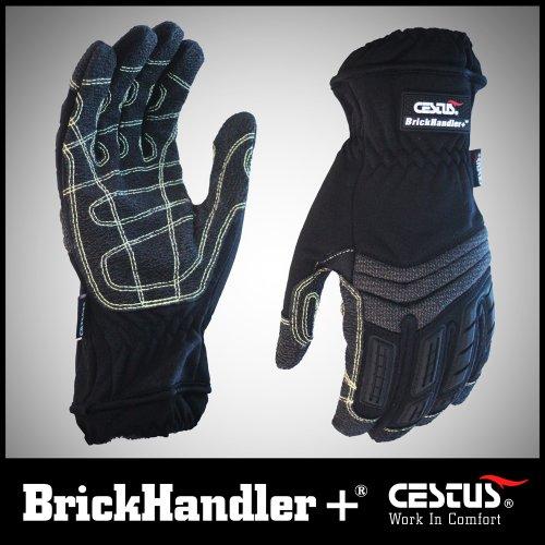 Cestus (Waffe) BK 4000L brickhandler + bk-3041L Suche und Rettung Handschuh, groß, Schwarz, Paar