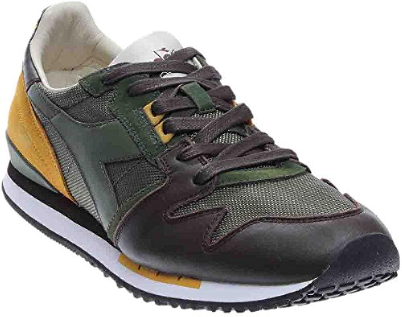 Diadora Heritage - Zapatillas de Piel para hombre Verde e senape 41 45