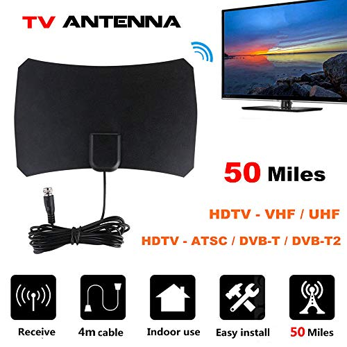 SEXTT TV Antenne HDTV High Definition Digital TV Antenne Indoor Empfangsantenne High-definition-digital-radar