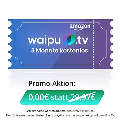 waipu.tv - Neukunden-Gutschein | TV-App für Fire TV und Smartphone | 3 Monate kostenlos testen | Digitaler Versand
