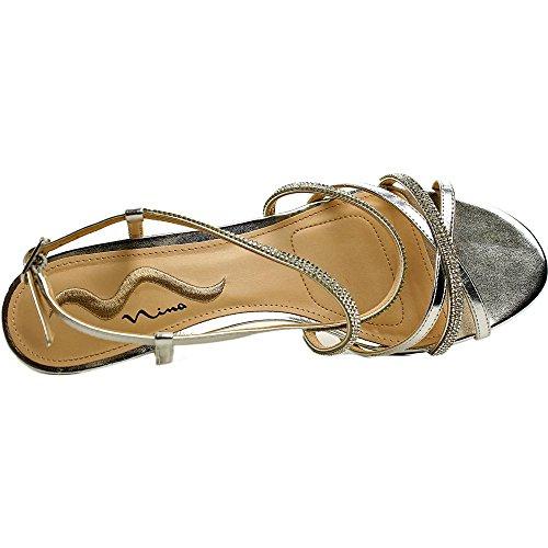 Nina Franya Cuir Sandale Silver Met